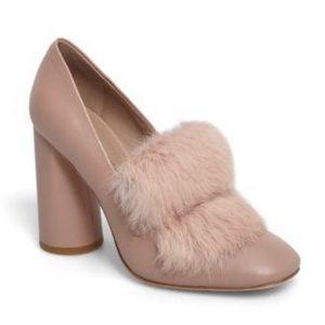Rare Donald Pliner Dusty Faune Rose Heels - Size 9